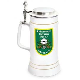 Bierkrug Upper Class STÄNDEKRUG 700 ml, mit Zinndeckel