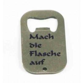 Edelstahl-Flaschenöffner, Farbe Silber kurz
