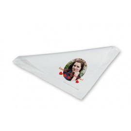 Stoffserviette weiß, Größe 40 x 40 cm